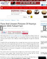 Rare And Unseen Pictures Of Nazriya Nazim With: Oneindia